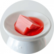 red wax melts on melting pot