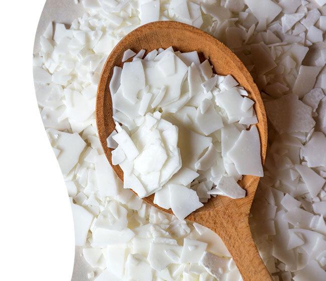 white wax flakes