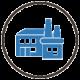production facility blue icon