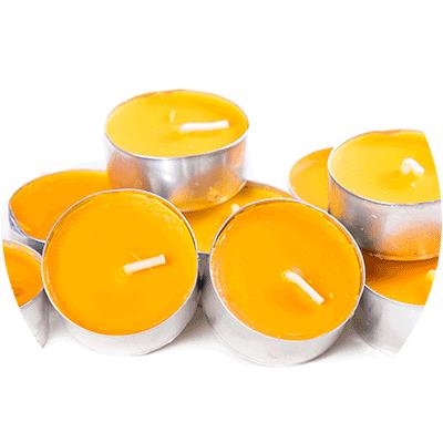pile of yellow tea light candles
