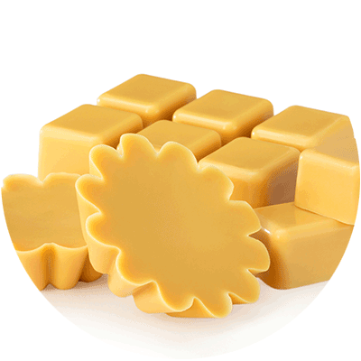 pile of yellow wax melts