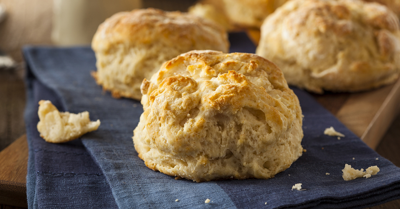 biscuits on a dish towel